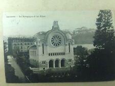 Lausanne Judaica Rare Postcard Jewish Synagogue 1910 Switzerland ISRAEL