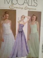 McCalls Sewing Pattern 4833 Ladies / Misses Lined Tops Skirts Size 8-14 UC