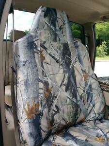2002-2010 Ford F250-F550 Exact Fit Car Seat Covers, 40/20/40 in Forest Camo XD3