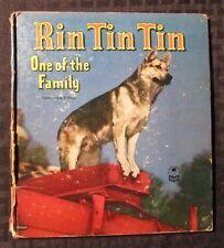 1953 RIN TIN TIN One Of The Family HC Whitman Cozy Corner Series VG-