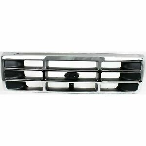 NEW Chrome Grille For 1992-1996 Ford Bronco F150 F250 F350 SHIPS TODAY