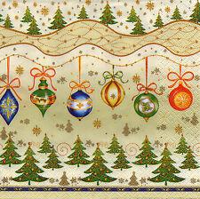 4 Motivservietten Servietten Napkins Tovaglioli Weihnachtskugeln (973)