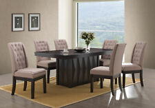 Kings Brand 7Piece Rectangular Dinette Dining Room Set, Table & 6 Chairs, Walnut