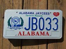 Jb 033= Nos 1990`s Alabama Jaycees Service To Hummanity license plate