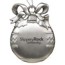 Slippery Rock University - Pewter Christmas Tree Ornament - Silver