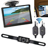 "5"" Monitor Car Rear View System Backup Reverse Camera Night Vision Kit Wireless"