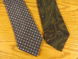 Venanzi  Men's Ties 100% Silk & Silk & Wool 2 ties Made in Italy NWOT  S-143