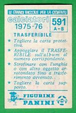 TRASFERIBILE CALCIATORI PANINI 1975/76 - NUOVO/NEW N.591 PRO VERCELLI/LODIGIANI