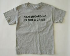 New Vtg 90 Santa Cruz Skateboarding Is Not Crime, T Shirt Youth Size Medium
