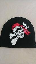 bonnet tête de mort pirate corsaire en travers,biker,moto,harley,chopper,triker