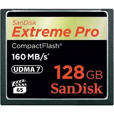 SanDisk 128G Extreme PRO CompactFlash 160MBs Memory Card Camera SDCFXPS-128G-X46