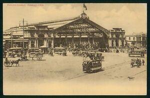 Mayfairstamps Chile Santiago Estacion Central Postcard wwp73101