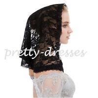 Black White Lace Vintage Veils Mantilla for Church Catholic Latin Mass HeadCover