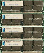 256MB  (4 X 64MB) EDO MEMORY NON PARITY 60NS SIMM 72 PIN 16X32