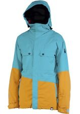 $280 NEW RIDE RAINIER INSULATED 15.OOOmm SNOWBOARD JACKET MENS M AQUA TWILL