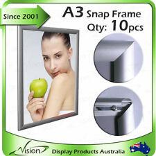 Snap Frame, Poster Frame - A3 Squrare Corner Silver 25mm Profile x 10pcs