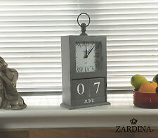 Windsor - Vintage Wooden Clock with Perpetual Calendar Blocks