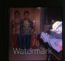 1960s 35mm Photo slide Boys in  Halloween Costume  Donald Duck and Clown #1