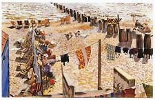 Southwold beach, Stanley Spencer print in 10 x 12 inch mount SUPERB