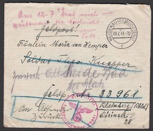 Germany. 1941 Fieldpost /Feldpost Cover with letter enclosed. (A)