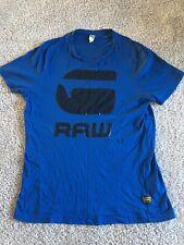 G Star Mens Dark Blue Crew Neck T shirt Size XL