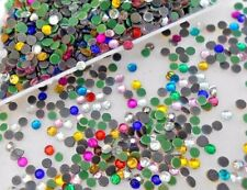 SS8 Hotfix MIX COLOUR Glass Crystal SS8 2.2mm Flatback Rhinestone 2500pcs 21.80g