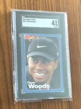 2001 Bravo Sport~TIGER WOODS RC #269~Rare Golf Graded Rookie Card~Graded SGC 4
