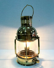 Electric Vintage Stable Gold Brass Lantern Lamp Wall Hanging Home Decor