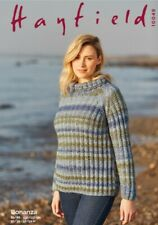 Hayfield Bonanza chunky knitting pattern sweater 10049