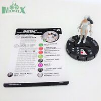 Heroclix Avengers: Black Panther & Illuminati set Elektra #037 Rare fig w/card!