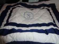 Pottery Barn Kids Harper small crib sham monogrammed S issue New