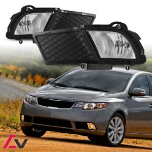 10-13 For KIA Forte Clear Lens Pair Bumper Fog Light Lamp OE Replacement DOT