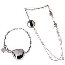 Collana Bracciale Donna Gioielli Stone Pink Breil Bloom Acciaio TJ0832