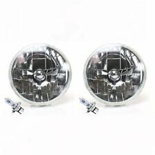 "7"" Inch Diameter Round Diamond Headlights Conversion H6024 w/ H4 Bulbs Pair GM"