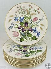 FRANCISCAN MARIPOSA SALAD PLATE SET 7 WHEAT IRIS FLOWER PINK BLUE GOLD RIM
