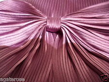 PURPLE and GOLD OLGA BERG EVENING RIBBED SATIN RIBBON CLUTCH BAG WEDDING
