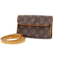 LOUIS VUITTON Pochette Florentine Shoulder Bum Bag Monogram M51855 Auth #TT635 S