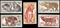EBS Czechoslovakia 1959 - Tatra National Park & Animals - Michel 1153-1157 MNH**