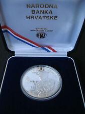 Croatia, Pope John Paul II, 100 kuna, 1994, proof silver ounce, box, certificate