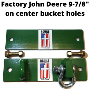 Bucket Hook and Shackle John Deere factory bucket holes 9-7/8 center