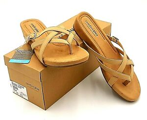 Comfort Plus by Predictions Shoes Womens Size US 11 Sandals Zahara Strappy Tan