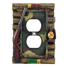 Lodge Rustic Log Home Cabin Decor Hunting Outlet Plug Switch Plate Covers