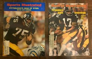 Pittsburgh Steelers Sports Illustrated Magazine Lot (6) 1971-1980 Full Magazine!
