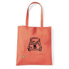 Art T-shirt, Borsa shoulder 500 Fiat, Corallo, Shopper, Mare