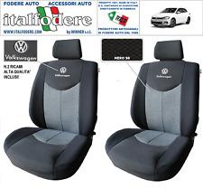 COPPIA COPRISEDILI VW POLO SU MISURA Fodere Foderine SOLO ANTERIORI Nero 38