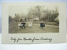 1944 REAL PHOTO POSTCARD GOATS ST, FORTY-FIVE MINUTES FROM BROADWAY,NEW ROCHELLE