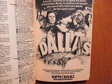 Apr 1-1978 TV Guide(PREMIERE OF DALLAS/LARRY HAGMAN/VALERIE BERTINELLI/SPIDERMAN