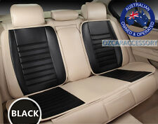 Black Universal Leather Car Seat Covers Full Set Toyota Camry Corolla RAV4 YR