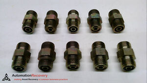 """PARKER 4 HLO-S - PACK OF 10 - MALE TO MALE UNION, TUBE OD: 1/4"""",, SEE DE #226640"""