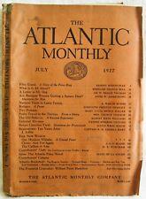 ATLANTIC MONTHLY MAGAZINE JULY 1927. Ernest Hemingway short story.